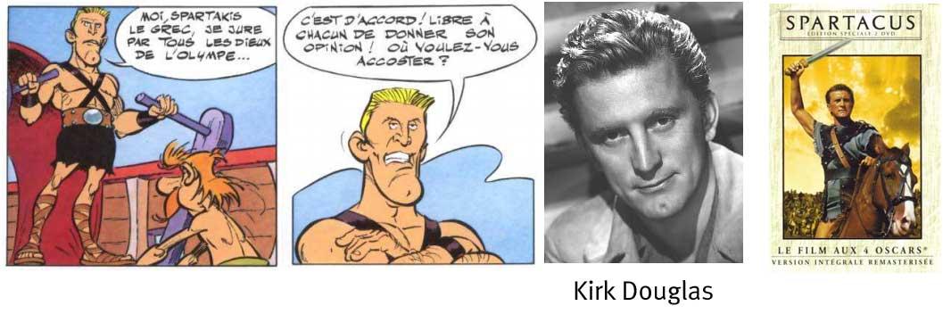 Caricature de Kirk Douglas