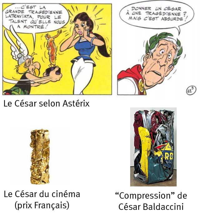 """les différents """"César"""""""