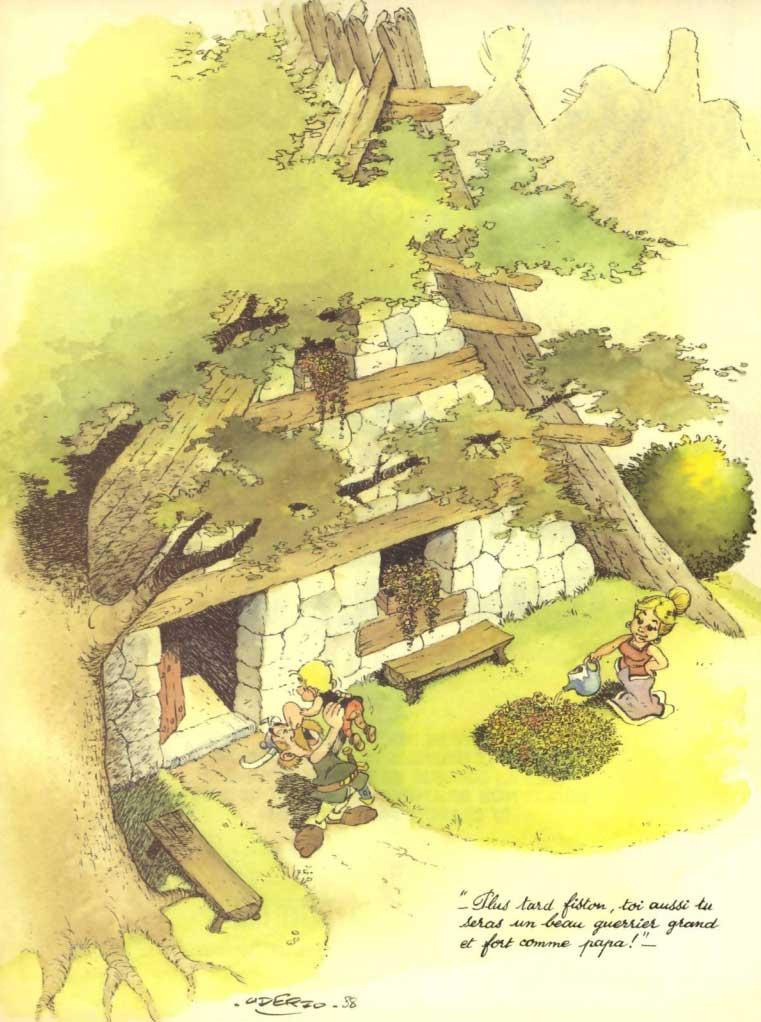 Comment Obélix est tombé dans la marmite du druide quand il était petit (page 1)