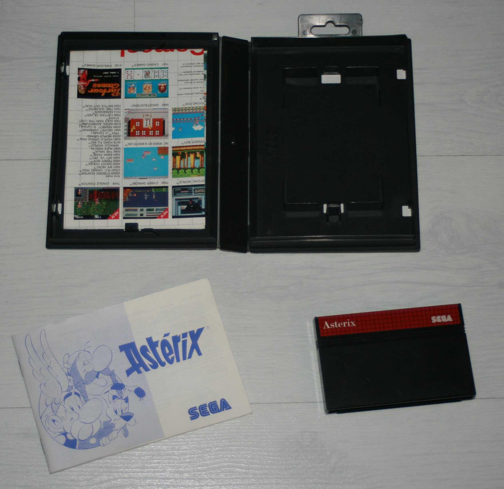 boîte Astérix Master System