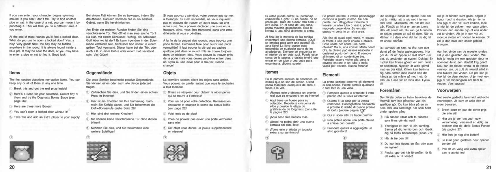 notice Astérix Master System