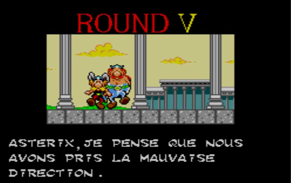 Astérix jeu Master System Sega (Screen Shoot)