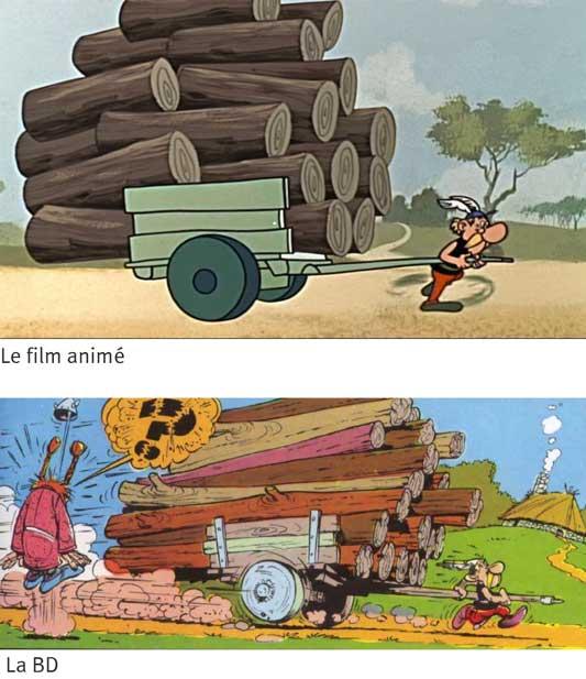 Astérix le Gaulois film animé comparé à la BD