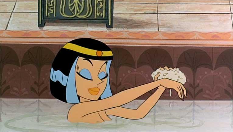 Ast rix et cl op tre film anim de 1968 ast rix et - Les bain de cleopatre ...