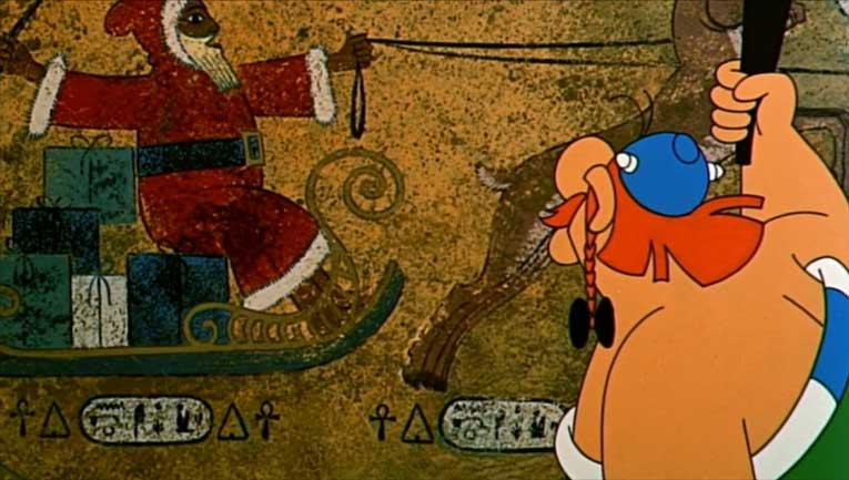 Astérix et Cléopâtre (dessin animé 1968) père Noël