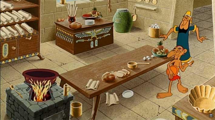 Astérix et Cléopâtre (dessin animé 1968) Préparation du gateau empoisoné par Amonbofis