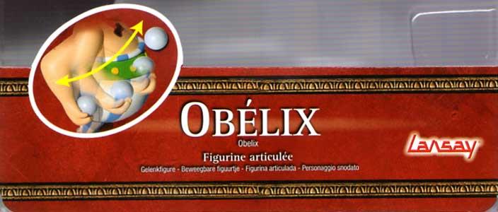 Figurine Lansay : Obélix (2008) bras articulé sur ressort