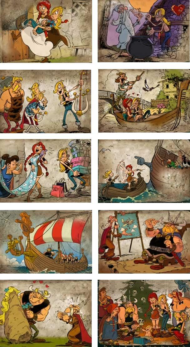 Les images bonus du génériques de fin de Astérix et les Vikings