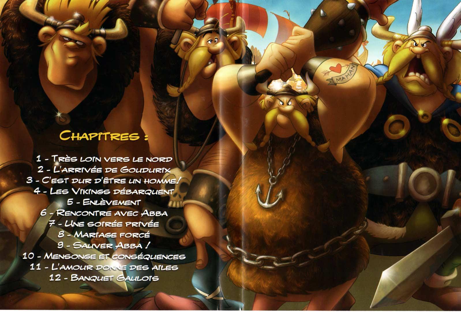 Astérix et les Vikings (2006) jacquette DVD intérieur