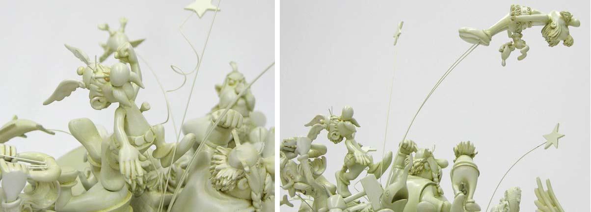 Attakus : La bagarre du village - 50 ans d'Astérix (2009) version blanc ivoire