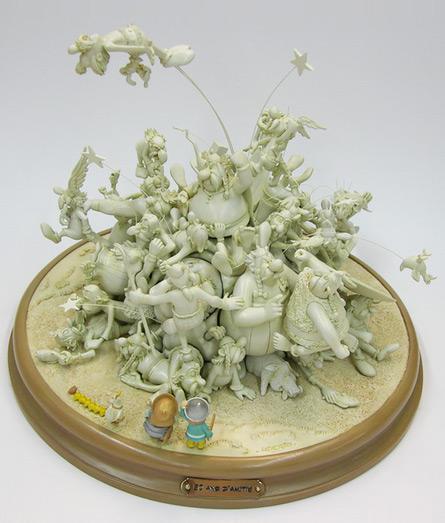 Attakus : La bagarre du village Version blanche - 50 ans d'Astérix (2009)