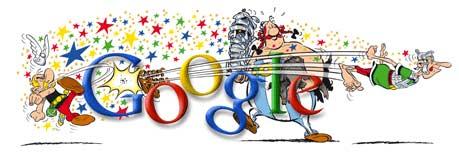 Le Logo Google fête les 50 ans d'Astérix (Doodle)