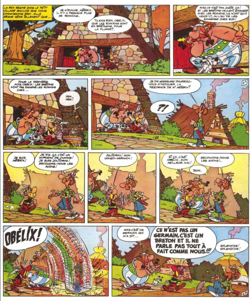 bande dessinee asterix chez les bretons