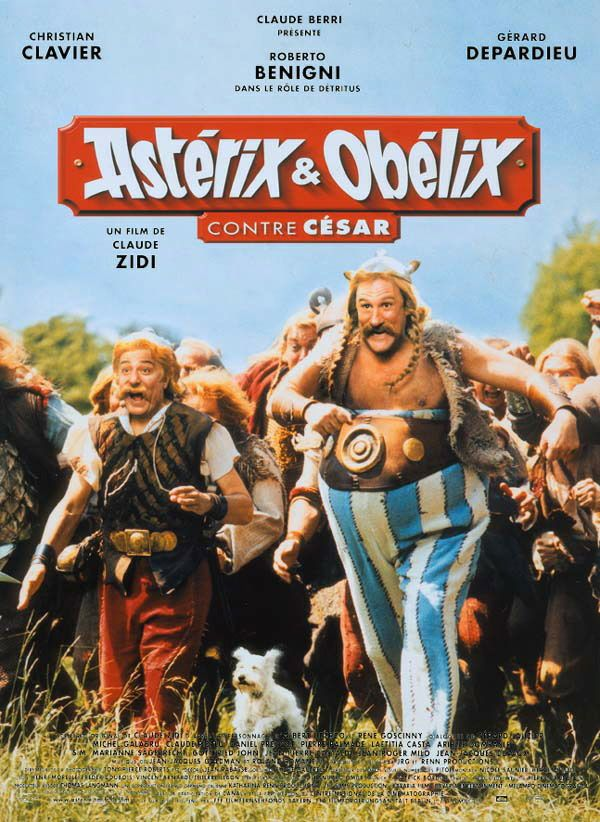 Affiche française du film Astérix et Obélix contre César