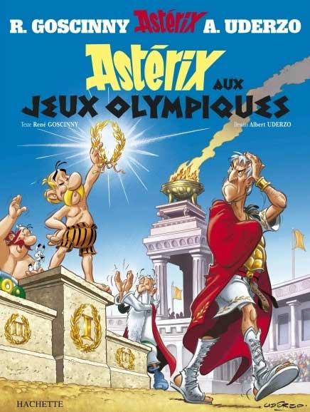 Astérix aux Jeux olympiques couverture faîte en 2008 pour la réédition dû à la sortie du film live
