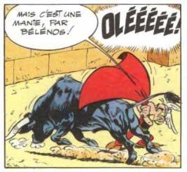 Astérix face à l'aurochs