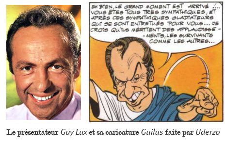 Guilus, la caricature du présentateur Guy Lux