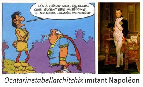 parodie de Napoléon premier