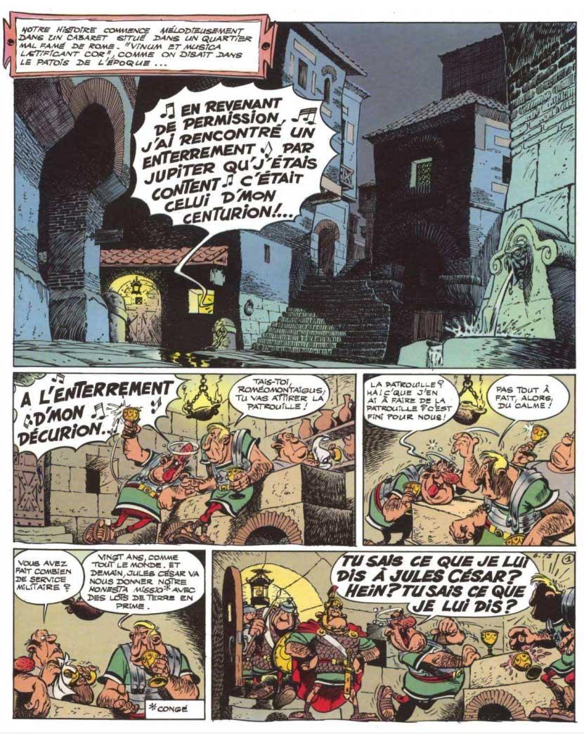 T21 : Le Cadeau de César (Astérix) page 1