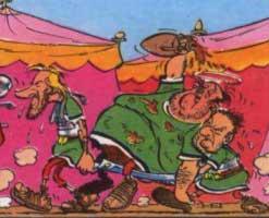 les auteurs portent un troisième légionnaire qui est une caricature de Pierre Tchernia