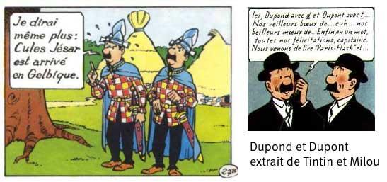 Les Dupont et Dupond de Tintin