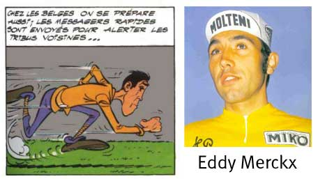 caricature de Eddy Merckx