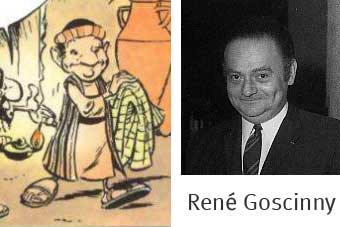 Caricature de Goscinny