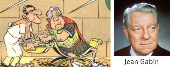Caricature de Jean Gabin