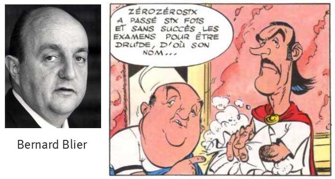 Caricature de Bernard Blier