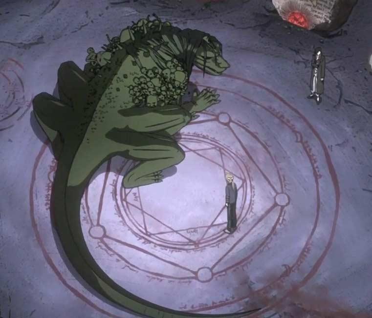 la véritable forme d'Envy (homonculus) - Fullmetal Alchemist