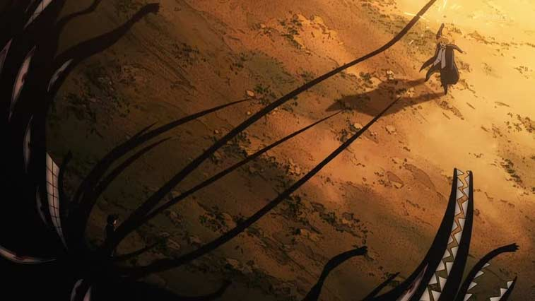 Le corps de Selim n'est qu'un réceptacle, la vraie forme de Pride est celle d'une ombre qui a besoin de lumière pour se manifester