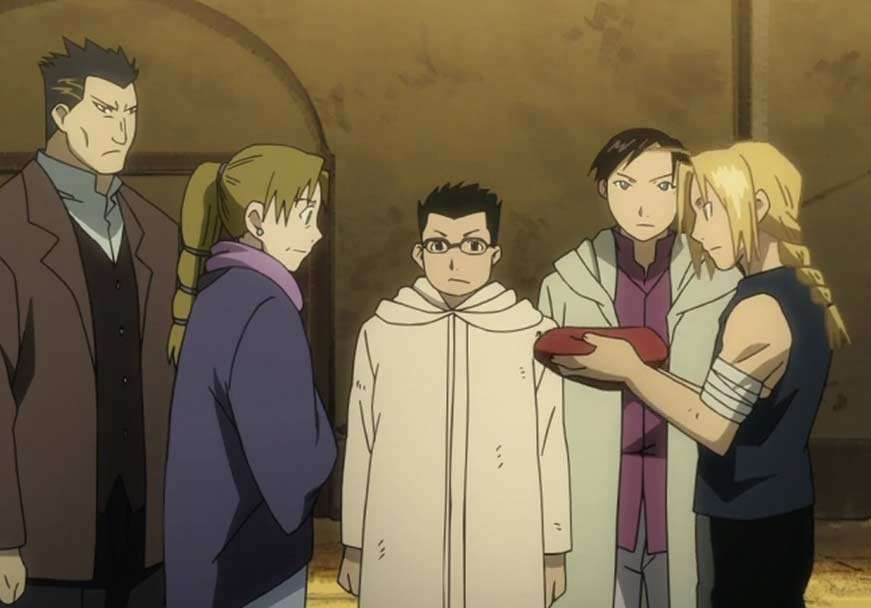 Edward remet Selim à Madame Bradley (Fullmetal Alchemist)