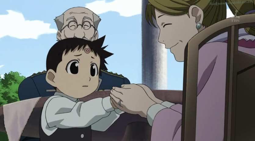 Selim est devenu un enfant calme et capable de compassion. (Fullmetal Alchemist)