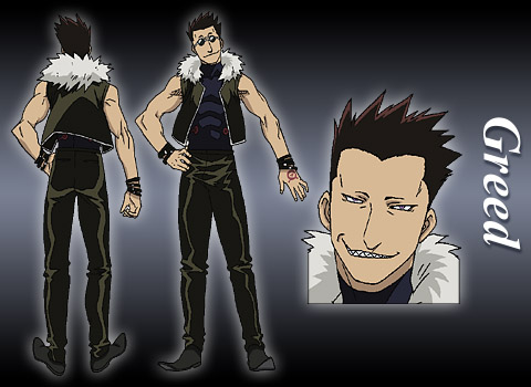 Model Sheet de Greed (homonculus) - Fullmetal Alchemist