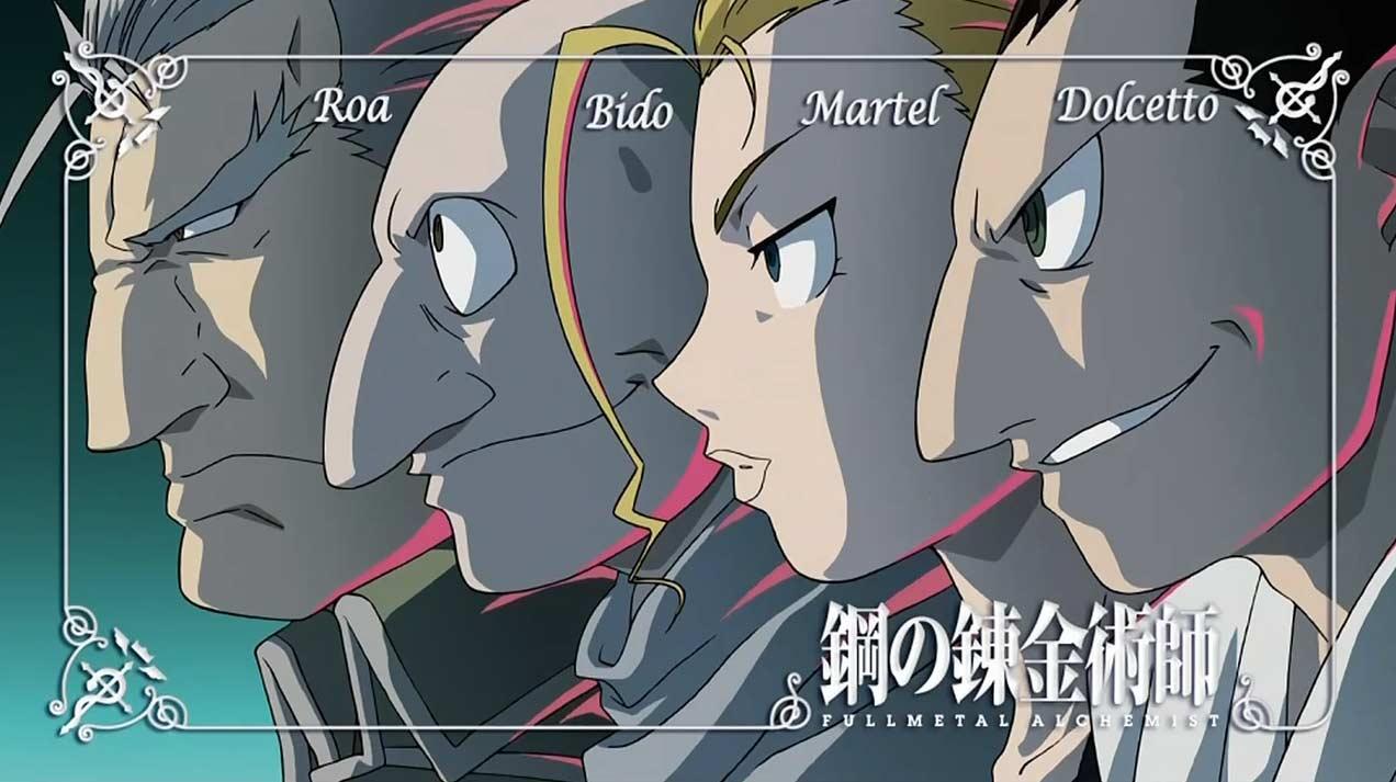 L'équipe de chimères de Greed - Fullmetal Alchemist