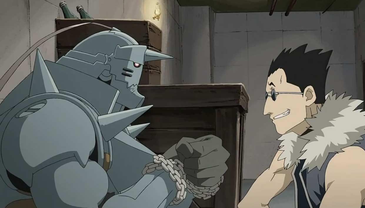 Greed a capturé Alphonse pour lui poser des questions sur la manière dont il a lié son âme à une armure