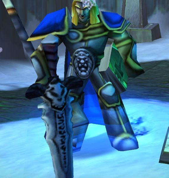 Arthas prenant Deuillegivre (Frostmourne) dans Warcraft 3