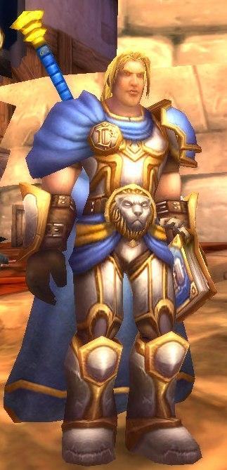 Arthas se préparant à attaquer Stratholme (World of Warcraft)