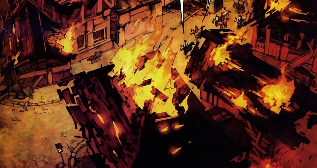 Stratholme détruit par Arthas (comics)