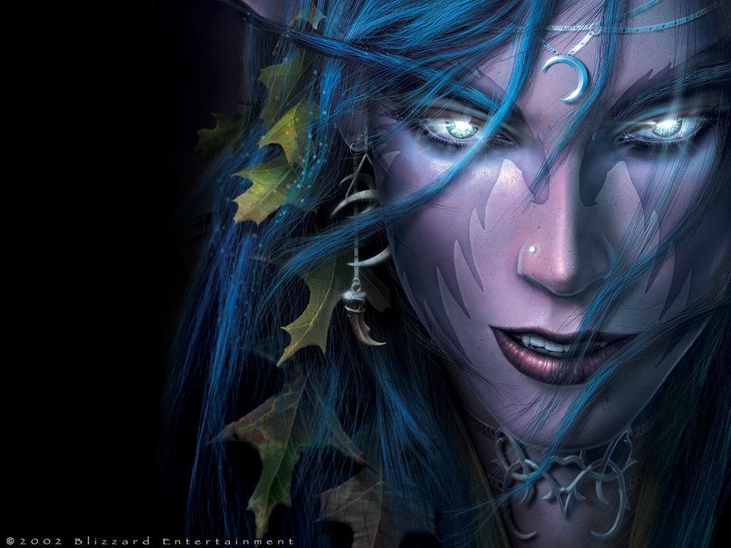 Fond d'écran Elfe de la nuit ( Warcraft 3t)