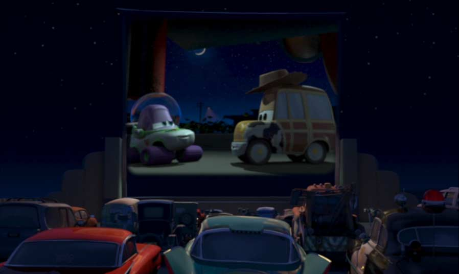 épilogue Cars dans le cinéma open air
