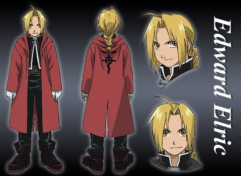 Model sheet d'Edward Elric
