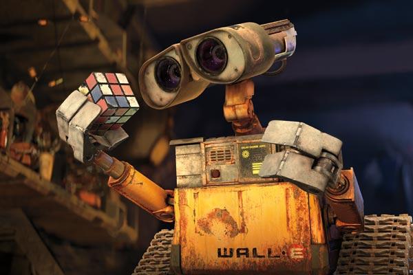 Wall-E et son Rubix cube
