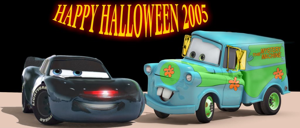 Flash McQueen en K2000 et Martin en camionnette de Scoubidoo par Victor Navone