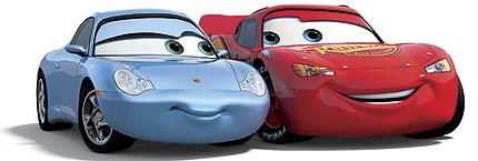 Flash et Sally (Pixar - Cars)