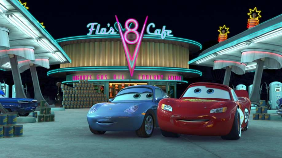 Sally Carrera (Cars - Pixar) dans martin et la lumière fantôme