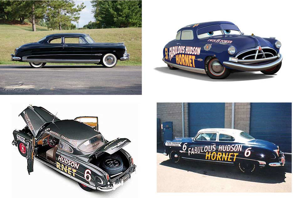 Doc Hudson (Pixar – Cars) et la Hudson Hornet originale