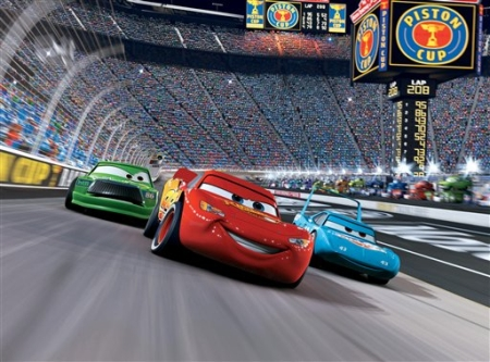 Chick, Flash et Le King Strip Weathers (Pixar - Cars)