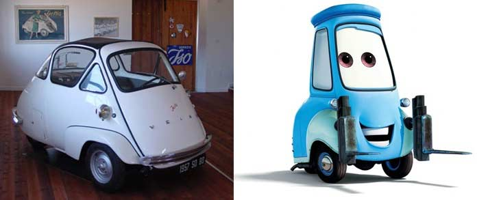 une Isetta et Guido (Cars - Pixar)