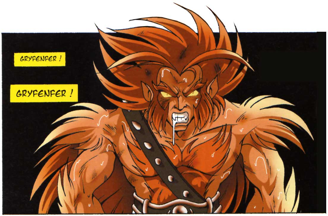 Gryfenfer du temps où il combattait dans des arènes clandestines en tant que Monslave (Les Légendaires)